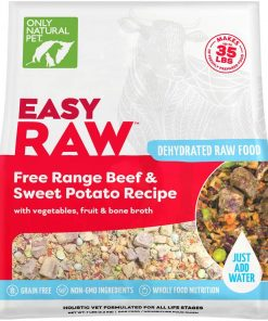 Only Natural Pet EasyRaw Human Grade Dehydrated Raw Dog Food Formula That Contains Real Wholesome Nutrition, Low Glycemic, Non-GMO - Beef & Sweet Potato