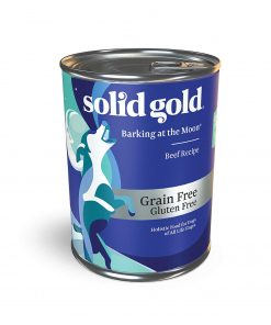Solid Gold High Protein Wet Dog Food; Barking At The Moon Grain Free With Real Beef; 12Ct 13.2Oz Can