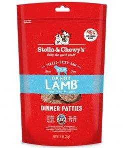 Stella & Chewy's Freeze-Dried Raw Dandy Lamb Dinner Patties Grain-Free Dog Food, 14 oz bag