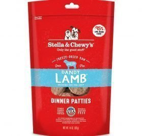 Stella & Chewy's Freeze-Dried Raw Dandy Lamb Dinner Patties Grain-Free Dog Food, 14 oz bag