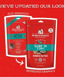 Stella & Chewy's Freeze Dried Surf & Turf (Beef & Salmon) Dinner Patties For Dogs 2