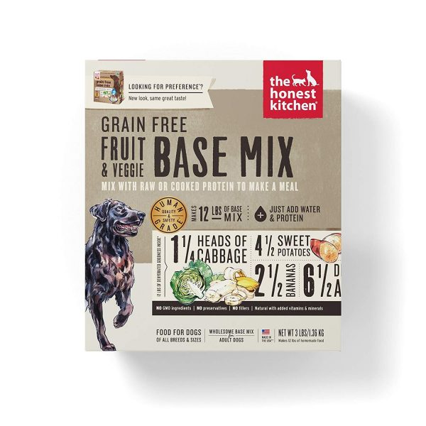 The Honest Kitchen Grain Free Fruit & Veggie Base Mix Recipe for Dogs, 3lb box
