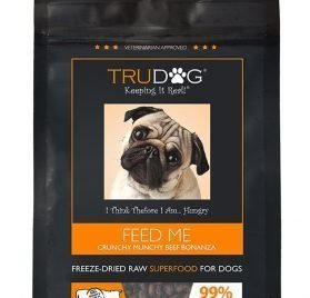 TruDog- Feed Me- Freeze Dried Raw Superfood - Real Meat Dog Food - Optimal Canine Health and Natural Longevity - All Natural - Balanced Nutrition