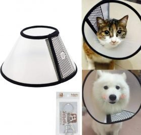 Bolbove Pet Plastic Clear Cone Recovery E-Collar for Mini Dogs & Small Cats