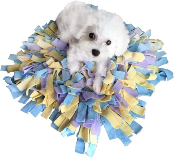 "Creation Core Durable 18""x18"" Pet Dog Snuffle Mat Dog Training Feeding Mat - Encourages Natural Foraging Skills"