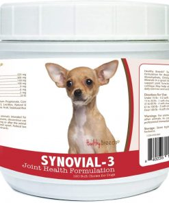 Healthy Breeds Synovial-3 Joint Health Formulation Soft Chews - Over 200 Breeds - Comprehensive Blend to Support Joint Strength Flexibility & Function