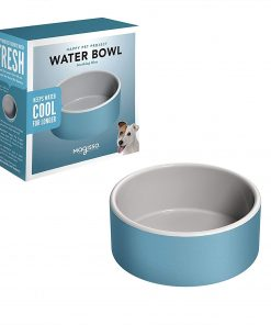Magisso Happy Pet Project Naturally Cooling Ceramics Water Bowl (Blue, 6 Inch) 2