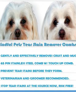 Mindful Pets Tear Stain Remover Combs for Dogs, Gently and Effectively Removes Crust, Mucus, and Stains 2