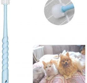 VTurboWay 360-Degree Pet Toothbrush for Puppy, Small Dog and Cat, Colors May Vary