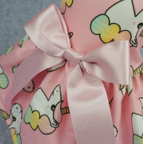 Fitwarm Unicorn Pet Clothes for Dog Dresses Birthday Party Cat Vest Shirts Pink XS 4