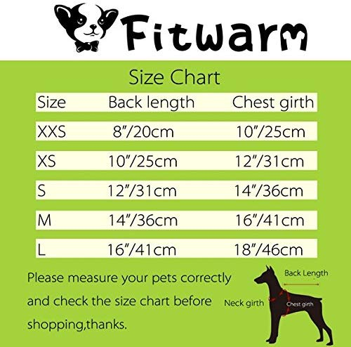 Fitwarm Unicorn Pet Clothes for Dog Dresses Birthday Party Cat Vest Shirts Pink XS 7