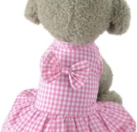 Puppy Dress, Cute Sweet Pet Outfit Dog Apparel Clothes Short Skirt Dress (Pink, XS)