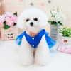 Wakeu Small Dog Girl Dress Pet Puppy Lace Tutu Stripe Vest Shirt Clothes (XS, Blue) 2