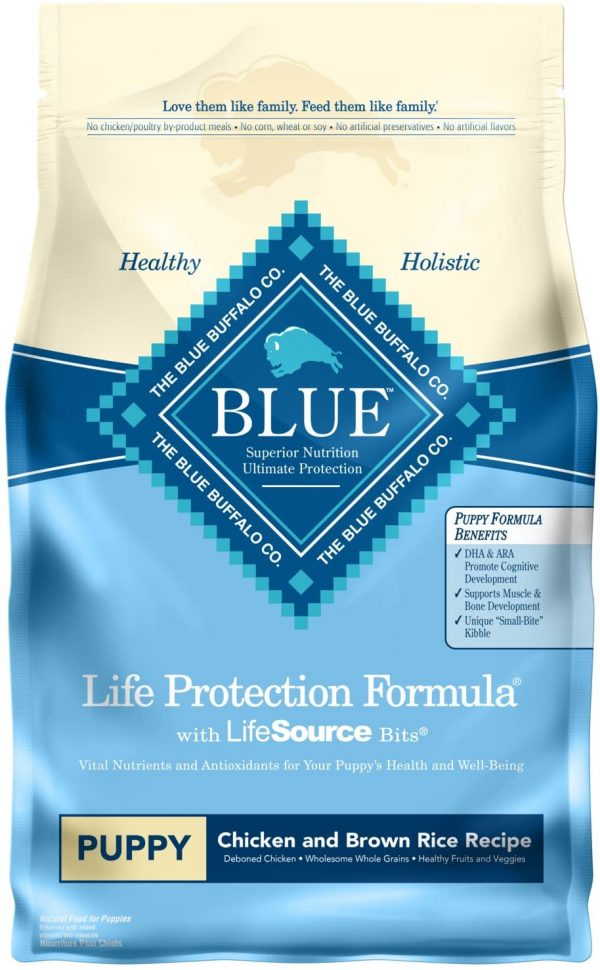 Blue Buffalo Life Protection Formula Puppy Dog Food – Natural Dry Dog Food for Puppies – Chicken and Brown Rice – 6 lb. Bag
