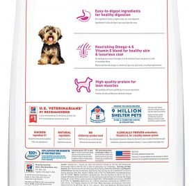 Hill's Science Diet Dry Dog Food, Adult, Small Paws for Small Breed Dogs, Chicken Meal & Rice, 4.5 Lb 2