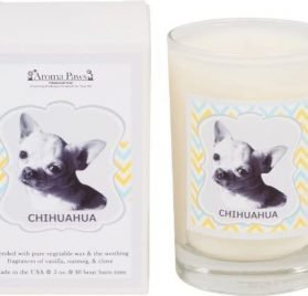 Aroma Paws Aromatic Dog Candle with Gift Box – for Canine Pet Odors, Vanilla Nutmeg Clove Scent – Cotton Wick Handcrafted – Soy Wax – Reusable, Recyclable Jar – 5 Oz