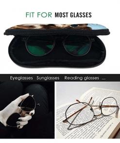Glasses Case miami flag Soft Neoprene Zipper with Carabiner 2