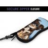 Glasses Case miami flag Soft Neoprene Zipper with Carabiner 4