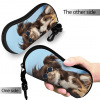 Glasses Case miami flag Soft Neoprene Zipper with Carabiner 6