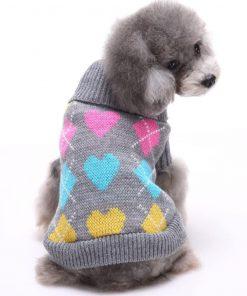 BINGPET Dog Argyle Sweater Cute Winter Pets Clothes 6