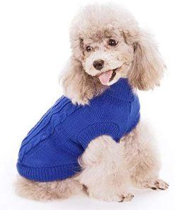 FAMI Turtleneck Classic Straw-Rope Pet Dog Sweater Apparel 2