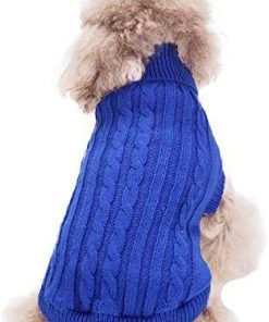 FAMI Turtleneck Classic Straw-Rope Pet Dog Sweater Apparel