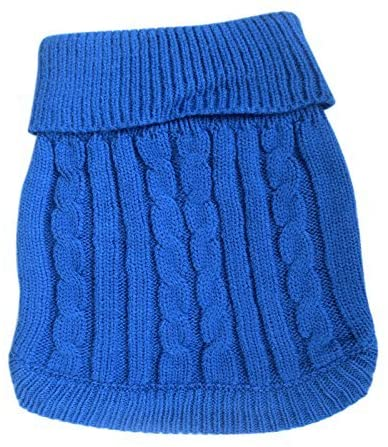 FAMI Turtleneck Classic Straw-Rope Pet Dog Sweater Apparel 3