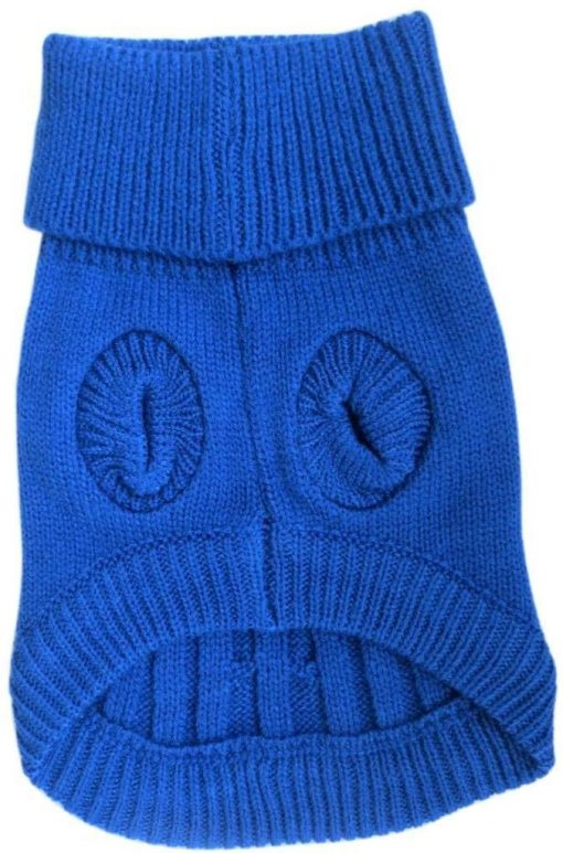 FAMI Turtleneck Classic Straw-Rope Pet Dog Sweater Apparel 4