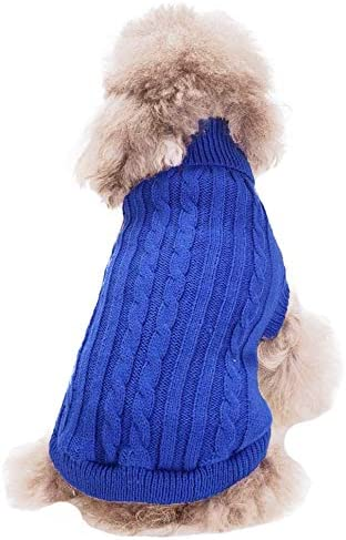 FAMI Turtleneck Classic Straw-Rope Pet Dog Sweater Apparel