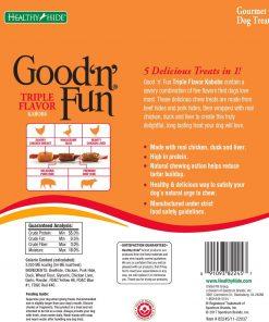 Good'N'Fun Triple Flavored Rawhide Kabobs for Dogs 2