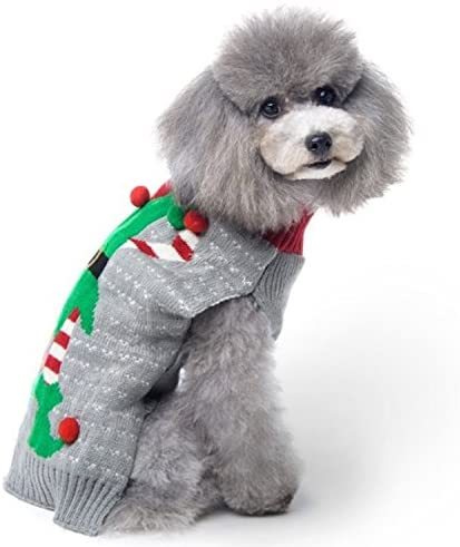 HAPEE Dog Sweaters for Christmas Santa Pet Cat Clothes,Dog Accessories, Dog Apparel 2