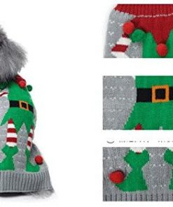 HAPEE Dog Sweaters for Christmas Santa Pet Cat Clothes,Dog Accessories, Dog Apparel 3