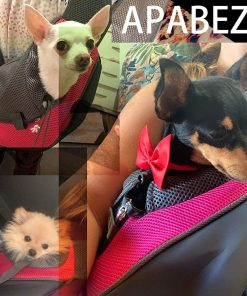 APABEZY Dog Sling Carrier for Small Dogs Cat Carrier Breathable Mesh Hand-Free Bag up to 5 lbs Gift 4