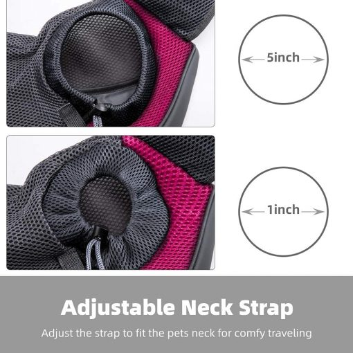 APABEZY Dog Sling Carrier for Small Dogs Cat Carrier Breathable Mesh Hand-Free Bag up to 5 lbs Gift 6