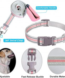 JSXD Small Dog Harness,Puppy Harness,Adjustable Leash and Collar Set for Small Dogs,Step-in Dog Harness 4