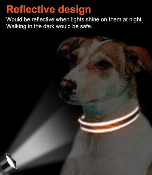 Joytale Reflective Dog Collar,12 Colors,Soft Neoprene Padded Breathable Nylon Pet Collar Adjustable for Small Medium Large Dogs,4 Sizes 5