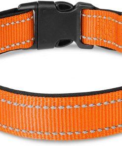 Joytale Reflective Dog Collar,12 Colors,Soft Neoprene Padded Breathable Nylon Pet Collar Adjustable for Small Medium Large Dogs,4 Sizes 6