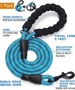 tobeDRI No Pull Dog Harness Adjustable Reflective Oxford Easy Control Medium Large Dog Harness with A Free Heavy Duty 5ft Dog Leash 2