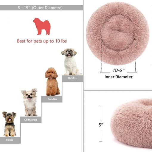 Dog Bed for Small Medium Large Jumbo Size Dog Anti Anxiety Calming Orthopedic Faux Fur Doggie Bed 3