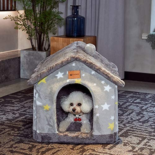 Foldable Dog House Kennel Bed Mat for Small Medium Dogs Cats Warm Chihuahua Cat Nest Pet Products Basket Puppy Cave Sofa 2