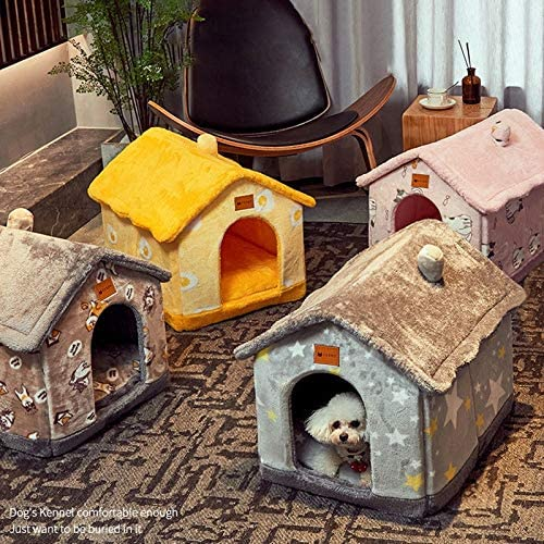 Foldable Dog House Kennel Bed Mat for Small Medium Dogs Cats Warm Chihuahua Cat Nest Pet Products Basket Puppy Cave Sofa 5