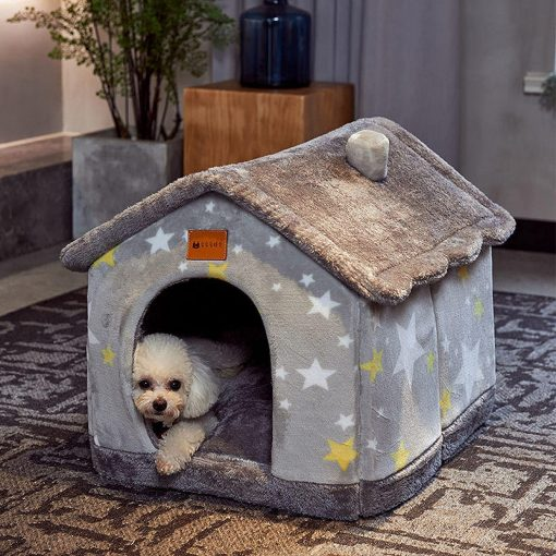 Foldable Dog House Kennel Bed Mat for Small Medium Dogs Cats Warm Chihuahua Cat Nest Pet Products Basket Puppy Cave Sofa