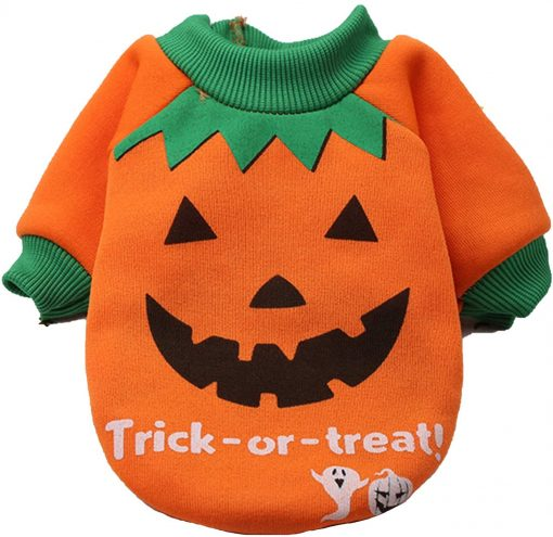 2 Pack Halloween Dog Shirts Clothes for Small Dogs, Puppy Knitwear Dog Sweater Soft Warm Pet Clothes Apparel Costumes for Chihuahua 4