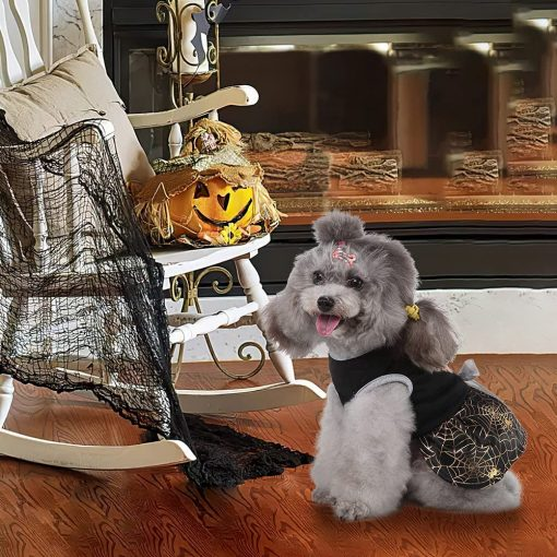 DaFuEn Pumpkin Dog Halloween Costume Dog Clothes for Small Medium Large Dogs Girl Dresses Puppy Party Apparel Doggie Wedding Dress Cat Outfit 3