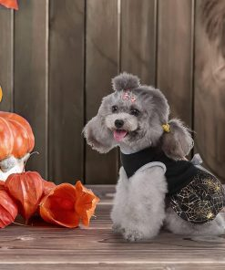 DaFuEn Pumpkin Dog Halloween Costume Dog Clothes for Small Medium Large Dogs Girl Dresses Puppy Party Apparel Doggie Wedding Dress Cat Outfit 5