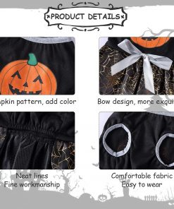 DaFuEn Pumpkin Dog Halloween Costume Dog Clothes for Small Medium Large Dogs Girl Dresses Puppy Party Apparel Doggie Wedding Dress Cat Outfit 7