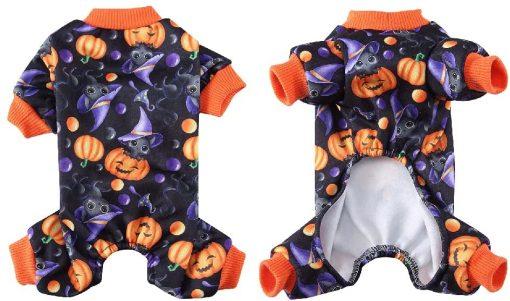 Dog Pajamas Medium Sized Dog Halloween Clothes 4 Legged Puppy Dog Onesie Pet Halloween Costumes Rompers Bodysuit Pumpkin Cat Outfit Apparel