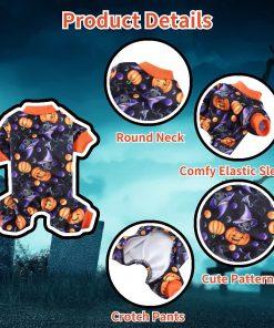 Dog Pajamas Medium Sized Dog Halloween Clothes 4 Legged Puppy Dog Onesie Pet Halloween Costumes Rompers Bodysuit Pumpkin Cat Outfit Apparel 6
