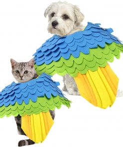 Halloween Pet Costume Dogs Cats Bird Swing Costume,Puppy Funny Outfit Cosplay Apparel Smelling Pad for Small Dogs & Cats 2