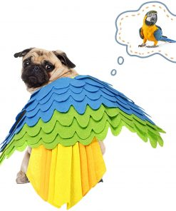 Halloween Pet Costume Dogs Cats Bird Swing Costume,Puppy Funny Outfit Cosplay Apparel Smelling Pad for Small Dogs & Cats